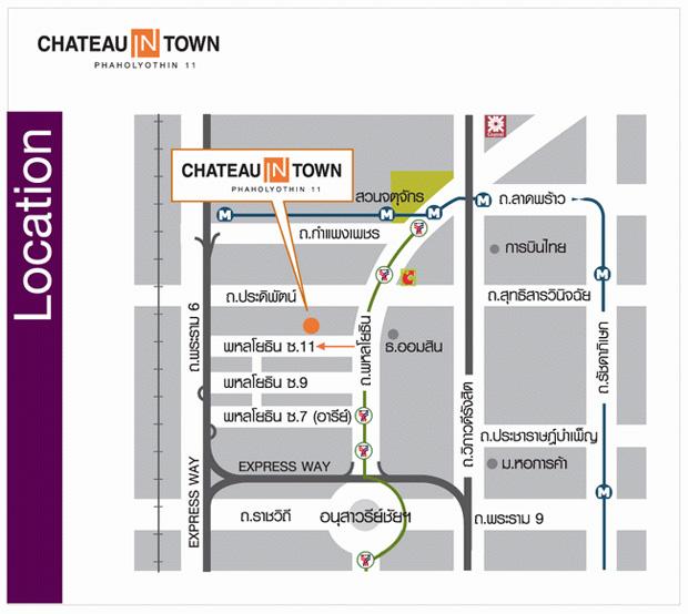 แผนที่ Chateau in Town Phaholyothin