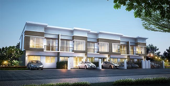 บ้านแบบ ศุภชีวัน ทาวน์โฮมหน้ากว้าง 5.7 ม. 3 ห้องนอน 2 ห้องน้ำ จอดรถ 2 คัน พื้นทีใช้สอย 113.95 ตร.ม.