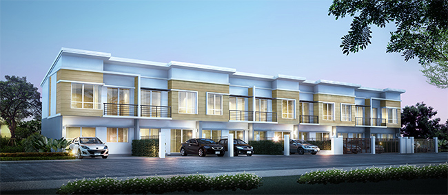 บ้านแบบ ศุภชีวา ทาวน์โฮมหน้ากว้าง 2 ขนาด ห้องมุม หน้ากว้าง 6.25 ม. ขนาด 3 ห้องนอน 2 ห้องน้ำ ที่จอดรถ 2 คัน พื้นที่ใช้สอย 118.47 ตร.ม. ห้องกลาง หน้ากว้าง 5.50 ม. ขนาด 2 ห้องนอน 2 ห้องน้ำ ที่จอดรถ 2 คัน พื้นที่ใช้สอย 103.04 ตร.ม