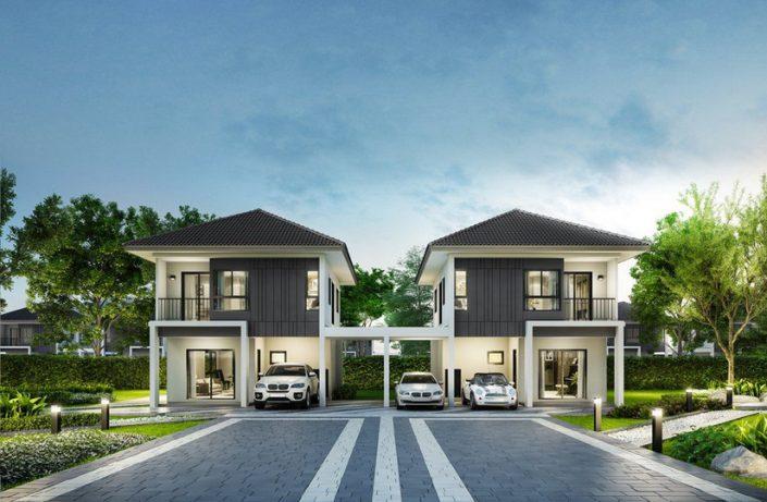 พรีวิว ทาวน์โฮม บ้านแฝด GRANDE PLENO Suksawat-Rama 3