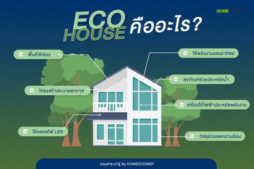 ทำความรู้จัก ECO HOUSE บ้านรักษ์โลก